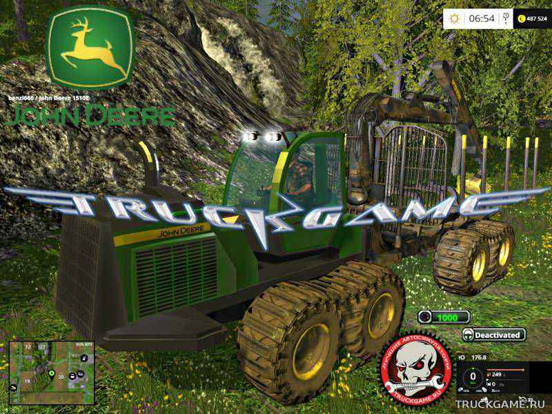 Мод John Deere 1510 E v1.0 для игры Farming Simulator 2015