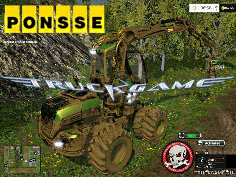 Мод Ponsse EcoLog v1.2 для игры Farming Simulator 2015