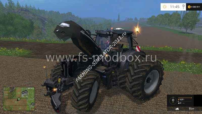 Мод Трактор Case CVX 300 Optum Black v 1.5 для игры Farming Simulator 2015