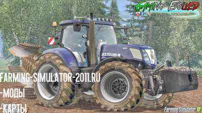 Мод Трактор New Holland T7 Series T7.220 для игры Farming Simulator 2015