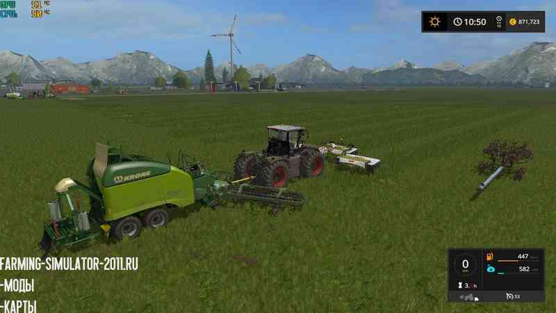 Мод Class 3200 and Krone Ultima Balers with front Nadal v1.0 для игры Farming Simulator 2017