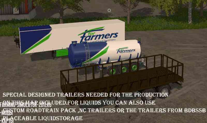 Мод Карта Factory farm V1.4 для игры Farming Simulator 2017