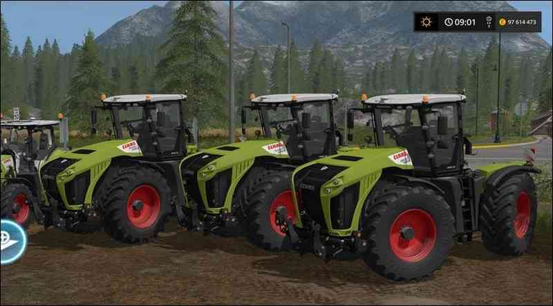 Мод Claas Arion / Xerion Pack для игры Farming Simulator 2017