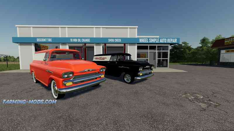 Мод 58 chevy apache panel van v1.0.0.0 для игры Farming Simulator 2019