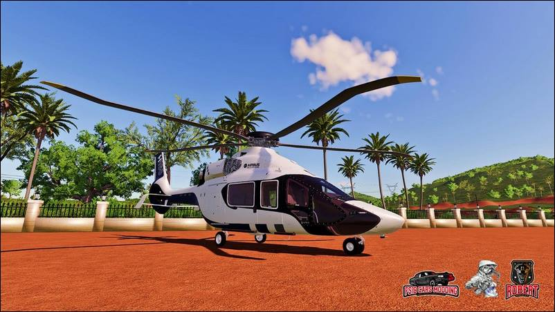 Мод Airbus Helicopter H160 для Farming Simulator 2019